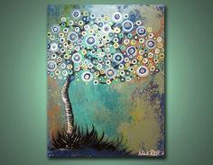 Midnight Swirly Tree  2 ft x 15 ft Modern by NickReitenour on Etsy, $39.00