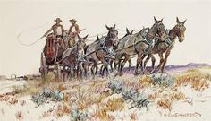 Cowboy Artists of America..Well into his eighties, John Hampton, one of the founders of the Cowboy Artists of America, was still painting, drawing, and sculpting the many stories of the American West. Hampton was born in Brooklyn, New York in 1918, but made his way west at an early age.