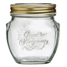 Jars & Accessories - Food Storage - Briscoes - Bormioli Rocco Quattro Stagioni Amphora Preserving Jar 500ml