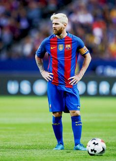 Lionel Messi of FC Barcelona during the International Champions Cup match between Leicester City FC and FC Barcelona at Friends arena on August 3, 2016 in Solna, Sweden.