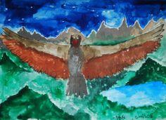 Acuarela sobre papel por Tristán Sotomayor.   Acuarela / Clase de Arte