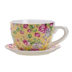 Gifts & Decor China Rose Teacup Saucer Herb Planter Flower Plant Pot by Gifts & Decor, http://www.amazon.com/dp/B008YQ4I64/ref=cm_sw_r_pi_dp_Zw4rsb16S8H8D