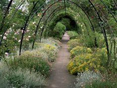 Gardens, Crathes Castle, Grampian, Scotland, United Kingdom