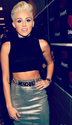 Confession time...I actually like Miley Cyrus's hair. If I could look good with really short hair, I think I'd try it.