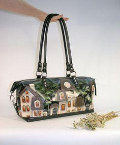 Funny Bird Painting Girl Round Crossbody Shoulder Bags Adjustable Top Handle Bags Satchel for Women