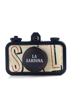 La Sardina Lomography Camera in Sea Pride - Black, Tan / Cream, Vintage Inspired, Handmade & DIY, Nautical #camera #lomo