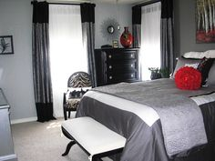 Red And Gray Bedroom | Went With A Black And Red Colour Scheme As A  Reminder Of Our Wedding ... | My Future Home | Pinterest | Red Color  Schemes, ... Part 57