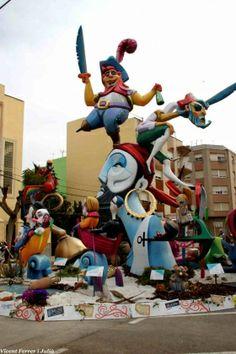 La Falla Benicarlo y la infantil de el Caduf consiguen el primer premio de las fallas benicarlandas