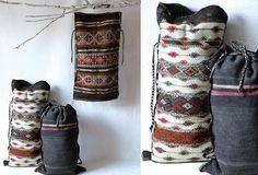 AFH FOUND: Vintage Tribal Sack - From Antiquefarmhouse.com - http://www.antiquefarmhouse.com/current-sale-events/antique-farmhouse/hemp-flax-vintage-tribal-satchel.html