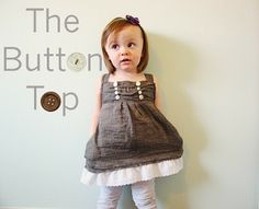 kids' button top tutorial....yeah, great for kids, but i want one for ME!