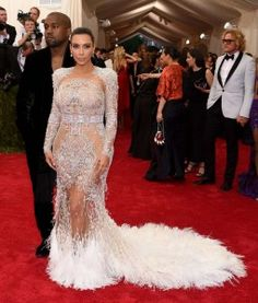 Transparencias en la Red Carpet - Kim Kardashian MET Gala 2015