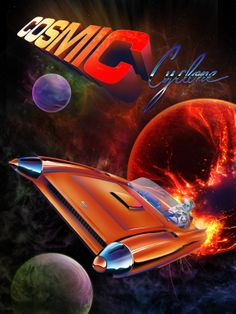 """Cosmic Cyclone, hommage to Cadillac concept car """"Cyclone"""""""