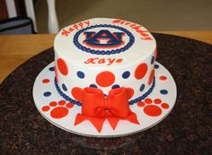 Loved making this cake...War Eagle! Buttercream icing with all handmade fondant/gumpaste decorations.