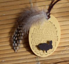 Frohe Ostern, Anhänger, Stampin Up, Big Shot, Hase, Feder
