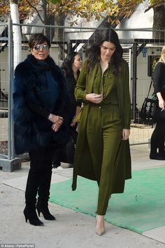 There she is! Kendall was flanked by her darling mother Kris Jenner ...