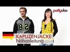 Eine Kapuzen-Sweatjacke nähen - mit Tasche und Reißverschluss - YouTube