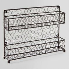 Wire Two-Tier Spice Rack