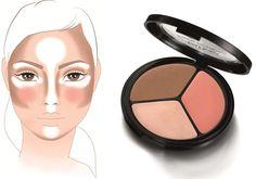 Paleta do konturowania twarzy IsaDora #makeup #makijaż