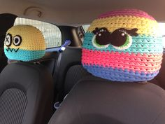Crochet car accessories. Poggiatesta uncinetto!