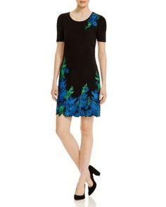 Elie Tahari Royce Embroidered Floral Dress | Bloomingdale's