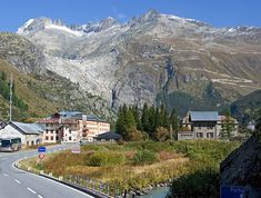 The Glacier Express route in Switzerland.  Six mountain passes up to 2,431 m.