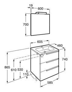 dimensiones mueble de baño | pequeños espacios. | pinterest ... - Medidas Muebles Bano