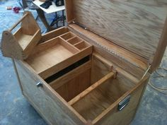 Tack Trunks sale for a lot of money.  Nice ones cost about $100+ to make (depending on wood). So there's a good profit margin  I've got a friend that does rodeos.  I might make him a nice one and get him to advertise.  This is an example from http://lumberjocks.com/projects/60248, not mine