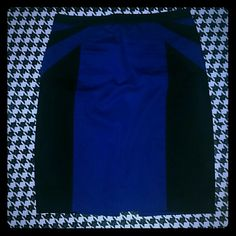 Express Blue and Black Pencil Skirt Size 4 Express Blue and Black Pencil Skirt Size 4 Express Skirts Pencil