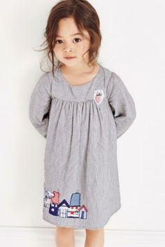 cba67bf686927 Acheter Robe bleue rayée motif personnage (3 mois - 6 ans) disponible en  ligne