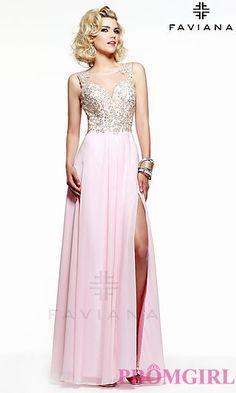 Long Sleeveless Prom Dress by Faviana S7503 at PromGirl.com