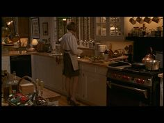 more of Father of The Bride kitchen. Don't those cabinets look gorgeous? and hey there is Diane Keaton!