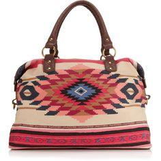 Monsoon Rhiad Ikat Woven Weekender (215 BRL) ❤ liked on Polyvore featuring bags, purses, accessories, handbags, bolsas, red, zipper crossbody bag, zipper bag, cotton bags and strap bag