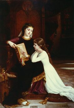 """""""Autrefois,"""" by Munier. Émile Munier June 1840 – 29 June was a French academic artist and student of William-Adolphe Bouguereau. Reading Art, Woman Reading, Reading Lessons, Munier, Yennefer Of Vengerberg, William Adolphe Bouguereau, Pre Raphaelite, Oil Painting Reproductions, Classical Art"""