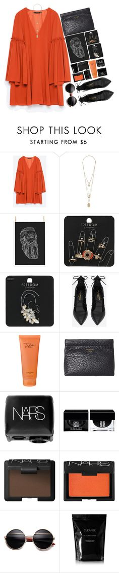 """""""56.   It's a love real and true"""" by besky ❤ liked on Polyvore featuring Zara, Topshop, Yves Saint Laurent, Lancôme, Acne Studios, NARS Cosmetics, Givenchy, Cleanse by Lauren Napier and MAC Cosmetics"""