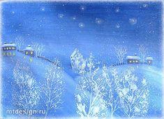 Рисуем зиму с детьми. Гуашь