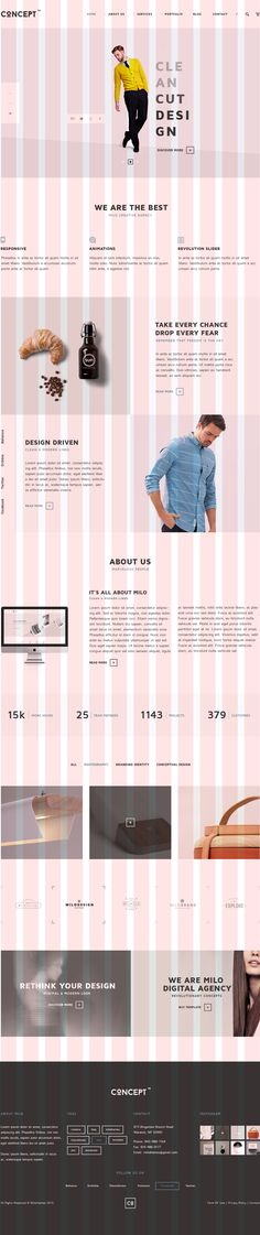 Concept is a unique project #psd #html, a minimal but complex design, created to suit an open- minded business, a creative agency or an online shop.