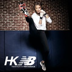 Look good, feel good and kick butt with #HKNB. Featuring the Windcheater Anorak, a lightweight pullover to pair with the Essential Tight and pair of 890s. Get the Heidi Klum for New Balance look!