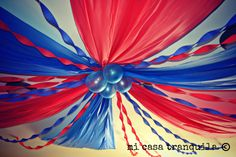 Ceiling Decoration plastic tablecloth decorating ideas - Google Search