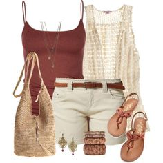 I don't wear shorts, and this is venturing toward boho, but it's cute and I like the colors.