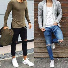"6,110 Likes, 36 Comments - The Highest Street Fashion® (@higheststreetfashion) on Instagram: ""Left or Right? Via @highesturbanwear . By @nemanja_grujic & @simon_mathis . Follow…"""