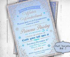 Winter Wonderland Invitation-Winter Onederland by Hottomatoink2