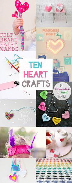 Ten Heart Crafts (That Aren't Just For Valentine's Day!)