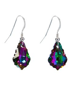 Look at this callura Sterling Silver & Swarovski® Crystal  Passion Drop Earrings on #zulily today!