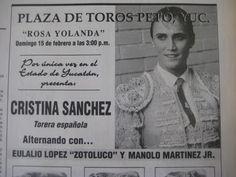 PeninsulaTaurina.com : Hace 19 años debutó en Peto Cristina Sánchez