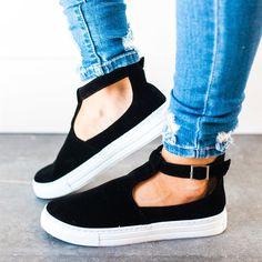 Velvet T-Strap Sneakers | 3 Colors