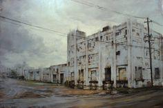 Lindsey Kustusch The Old Plant, Deep Ellum Texas Oil on Panel © LIndsey Kustusch