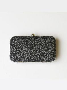#Sequins #BLACK  #BOX #CLUTCH #Bag #black silver by #iThinkFashion, $55.00