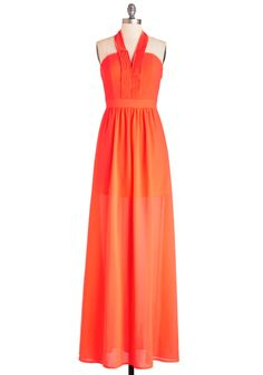Radiant Resort Dress. Even this sunny beach hotspot cant rival the brightness of your neon-orange halter dress. #orange #modcloth