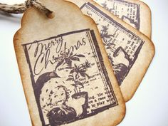 A personal favorite from my Etsy shop https://www.etsy.com/listing/224612063/christmas-tags-vintage-catalog-image-old