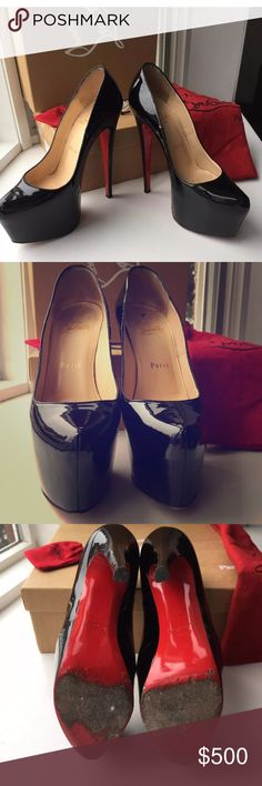 Christian Louboutin daffodils 160mm Sz 37 patent 100% authentic Christian Louboutin daffodils platform pumps. Excellent used condition. Worn a handful of times but still in excellent condition. Comes with box and dustbag. Posh price firm! No trades. Will accept $340️️ Christian Louboutin Shoes Platforms